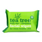 Tea Tree Cleansing Facial Wipes 1Ks 25 Pieces Of Wipes For Clear Skin Per Donna (Cosmetic)