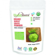 Healthsootra Organic Wheat Grass Powder 100 Gm USDA / NPOP Certified organic food