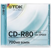 CD cu carcasa 700 MB TDK