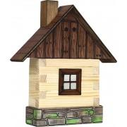 WALACHIA fa építőjáték modell - kunyhó front