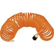 Furtun spiralat aer comprimat Topex 15m Ø5x8 mm max. 8 bari, pentru compresoare