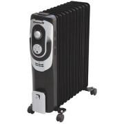 Calorifer electric HAUSBERG HB 8900 7 elementi Putere 1500 W 3 trepte de putere Termostat de siguranta Termostat reglabil Alb Negru