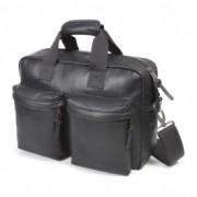 "EASTPAK TOMEC Black Leather Geanta laptop 15"""