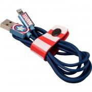 USB Tribe Marvel Captain America Lightning Cable - сертифициран Lightning кабел за iPhone, iPad и iPod с Lightning (120 см)