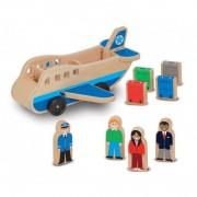 Set de joaca Avion cu pasageri Melissa and Doug, lemn