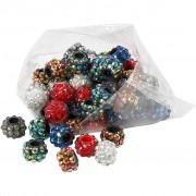 Creativ Company Rhinsten Links, stl. 9x13 mm, hålstl. 5 mm, 60 mix., mixade färger