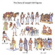 The Story of Joseph in Egypt Felt Figures for Flannel Board Bible Stories-precut