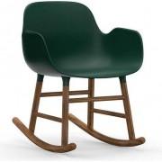 Normann Copenhagen Fotel bujany Form drewno orzechowe zielony