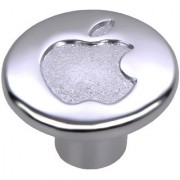 Doyours Chrome Apple Cabinet Knob White Metal