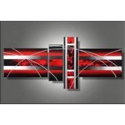 EVA JEKINS Tableau Red Silver design