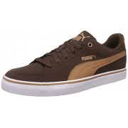Puma Men's Court Point Vulc Buck Chocolate Brown and Chipmunk Brown Sneakers - 10UK/India (44.5EU)