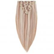 Rapunzel® Extensions Naturali Kit Clip-on Original 7 pezzi M7.3/10.8 Cendre Ash Blonde Mix 50 cm