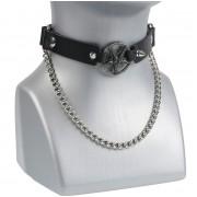 Collier chocker (harnais à chaussure) Baphomet - LSF3 07