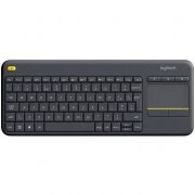 Tastatura Wireless Logitech K400 Plus Dark, Touchpad, USB, Black