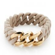 The Rubz Natural Silicone 15mm Unisex Bracelet Desert Sand & Gold