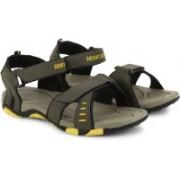 Newport Men Olive/Yellow Sports Sandals
