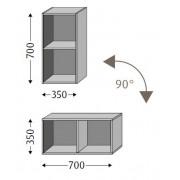 Sanipa Cubes offen CU10136, Kirsche Natural-Touch CU10136