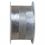 Szalag matt, fényes, glitteres 60mmx10m ezüst