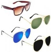 Sulit Aviator, Wayfarer Sunglasses(Brown, Green, Blue, Black)