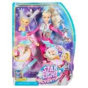 Barbie Star Light Adventure Barbie Doll and Flying Cat DWD24