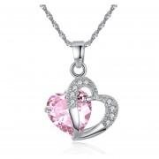 Colgantes De Moda Corazón De Cristal -Rosa