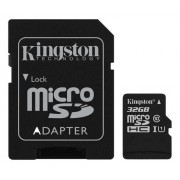 Kingston microSDHC Canvas Select 80R CL10 UHS-I Card+SD, 32GB