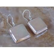 Madat Nepal Oorbel Zilver Shell/White 17mmmm