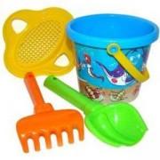 Детски комплект с кофичка за пясък, 3 цвята, Polesie, 411066