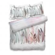 Heckett & Lane dekbedovertrek Finestock - roze - 200x200 cm - Leen Bakker