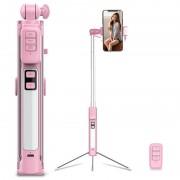 Selfie Stick Bluetooth Multifuncional 4-in-1 Cyke A18 - Cor-de-Rosa