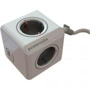 Prelungitor in forma de cub 4 cai + 1 USB,Allocacoc
