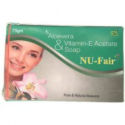 NU-Fair Fairness Aloevera Vitamin-E Soap ( Pack of 2 pcs. ) 75 gm each