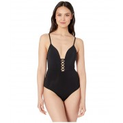 JETS SWIMWEAR AUSTRALIA Jetset Plunge Crisscross One-Piece Black