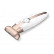 Epilator Aparat de ras pentru femei Beurer HL35, 2 pieptani, Led, Alb/Bronz