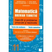 Matematica clasa a XI-a. Breviar teoretic cu exercitii si probleme propuse si rezolvate teste de evaluare. Filiera teore