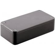 Carcasă euro, plastic ABS, negru, tip 1591BBK, 112 x 62 x 31 mm