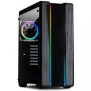 Кутия Inter-Tech Impulse S-3901, ATX/Mini ITX/Micro-ATX, 2x USB 3.0, 2x USB 2.0, прозорец, 3x вентилатора отпред, 1x вентиалтор отзад, 2x вентилатора отгоре, RGB LED подсветка, без захранване