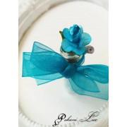 Подарък за гостите на сватба кръщене и абитуриентски бал цвят тюркоаз Дуо роза над 20 бр