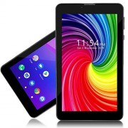 """indigi Unlocked! 7.0"""" Android 4.4 Phablet 3G Dual-Sim Tablet Phone Wireless w/Built-in Smart Cover (Grey)"""
