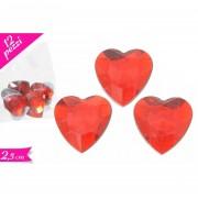 Decorazioni cuori decorativi san valentino 12 pz 2,5cm
