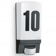 Steinel външна лампа със сензор и номер на къща, черна, L 1
