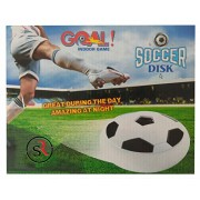 Kirat Air Soccer Disk Hover disc Battery Operated Toy for Kids Multi Color Lights Football White Air Foam Soft Bumper Play Indoor on Floor