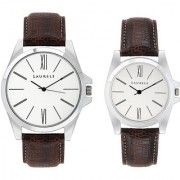 Laurels Opus Analog Silver Dial Couples Watch - Lo-Opus-0109
