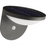 Solarna vanjska zidna svjetiljka s senzorom pokreta 1.5 W topla bijela Philips Lighting 17808/93/16 Dusk antracit