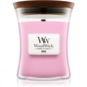Woodwick Rose lumânare parfumată cu fitil din lemn 275 g
