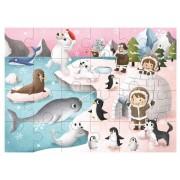 Tooky Toy Träpussel 24 bitar Arktisk expedition