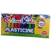Plastilina, 200g, 12 culori/set, PIGNA ColourKids