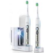 Periuta de dinti sonica electrica SoniCare FlexCare Philips HX6932/36, reincarcabila, alb/verde