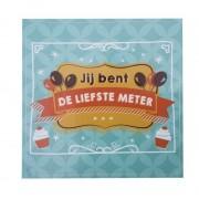 Wijnetiket - Jij bent de Liefste Meter! Balloons & Cupcakes. Sticker