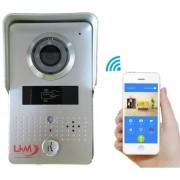 LKM Videocitofono Wi-Fi con telecamera e visione nottura con card di comando gestibile da smartphone protezione IP66